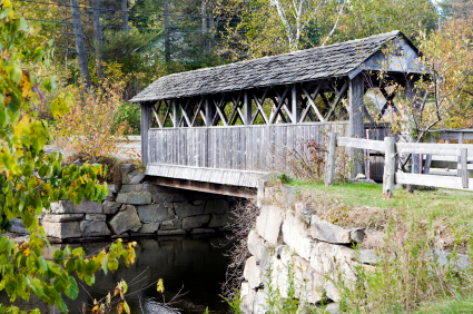 Covered bridge photograph